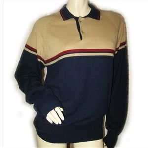 MERVYN'S Men's Polo Long Sleeve Tee